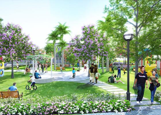 Mật độ xây dựng ưu tiên nhiều không gian xanh