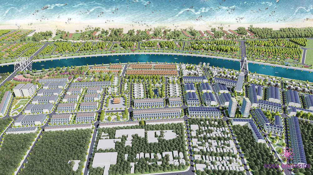 Slider Phối cảnh tổng thể dự án Rosa Riverside Complex