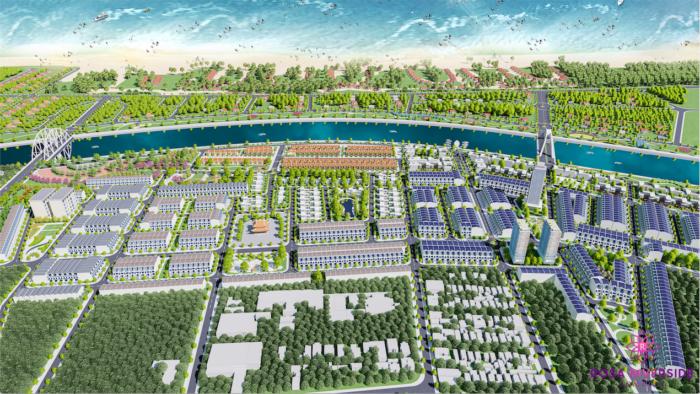 Chuỗi biệt thự và công viên ven sông tại dự án Rosa Riverside Complex