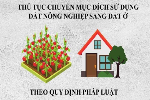 Thủ tục chuyển đổi mục đích sử dụng đất nông nghiệp sang đất ở
