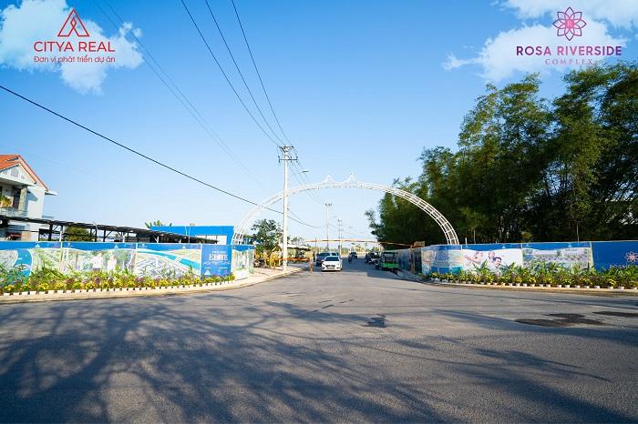 Pano cổng vào dự án tháng 3/2021