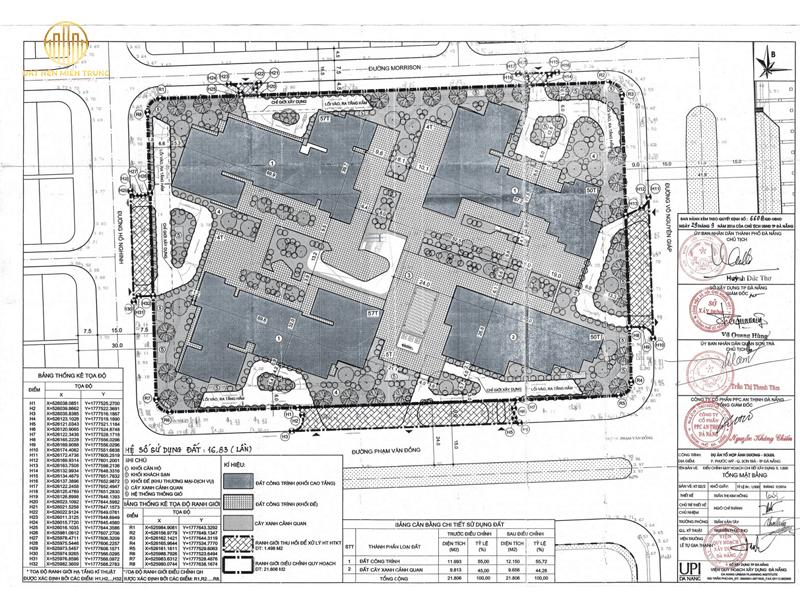 Bản đồ Quy Hoạch 1500 Dự án Wyndham Soleil Ánh Dương Đà Nẵng
