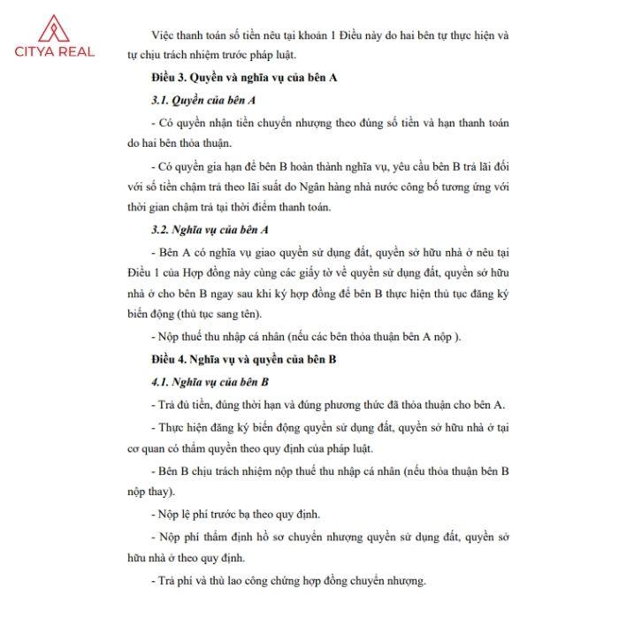 Hợp đồng Chuyển Nhượng đất 3