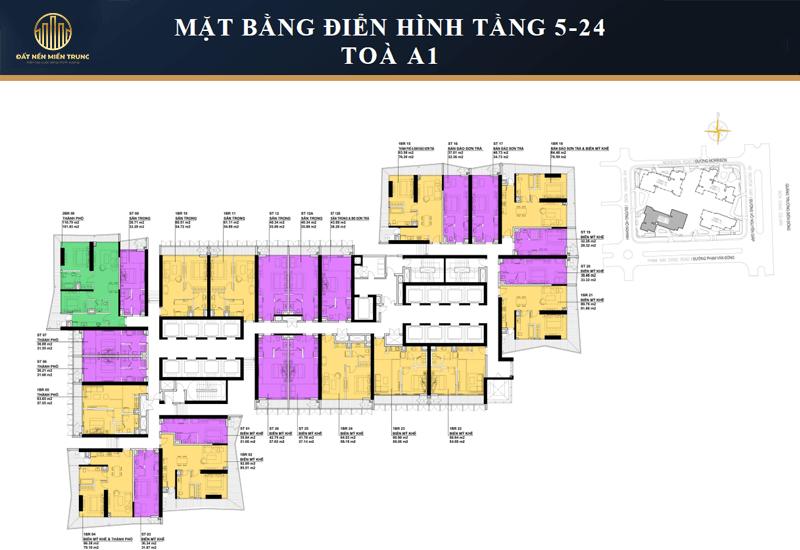 Mặt Bằng điển Hình Tầng 5 24 Tòa Nimbus