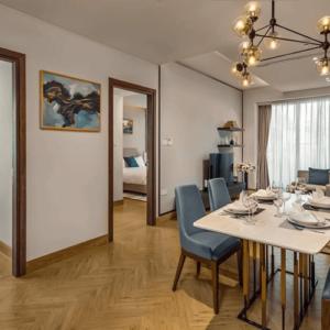 Phối cảnh phòng ăn căn hộ Soleil Ánh Dương