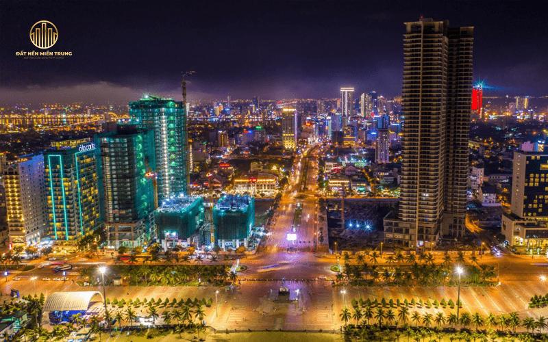 Thực tế dự án Wyndham Soleil Đà Nẵng về đêm