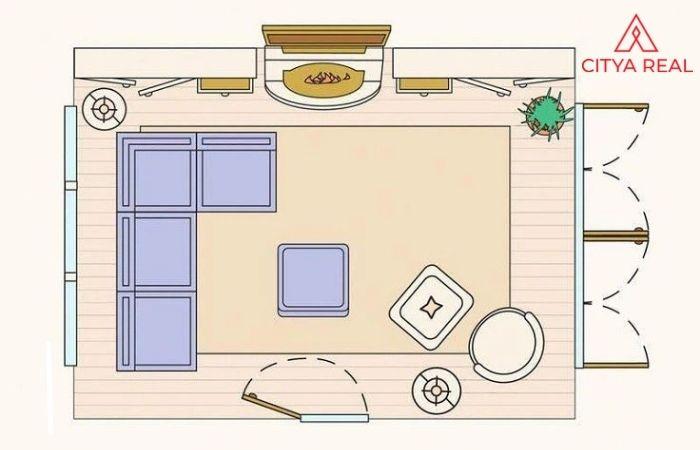 Khi thiết kế mặt bằng tổng thể, cần bố trí phòng khách phù hợp