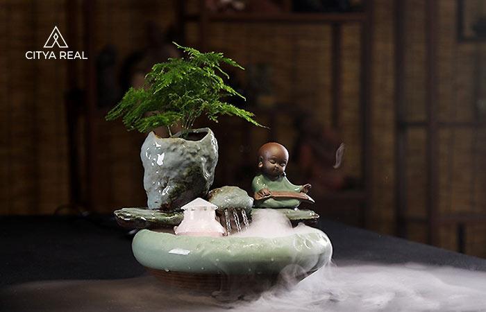 Thác Nước Phong Thủy Mini